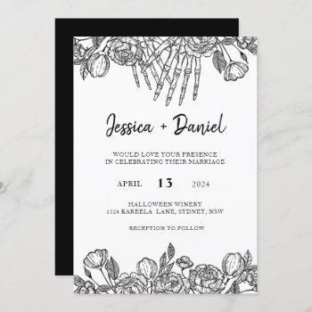 gothic till death wedding invitation