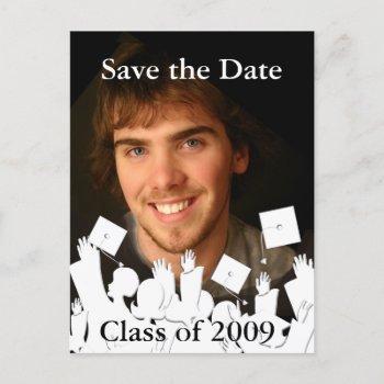 graduation invitation-change background/font color announcement postcard