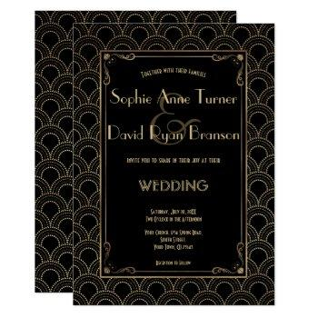 great gatsby vintage 1920s art deco wedding invite