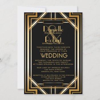 great inspired art deco wedding invitation