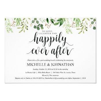 greenery post wedding brunch invitation card