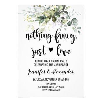 greenery wedding reception invitation