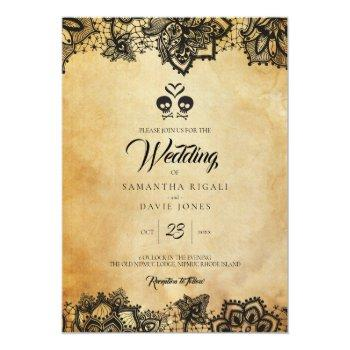 halloween wedding invitation