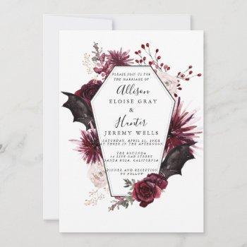 halloween wedding invitation  flyer