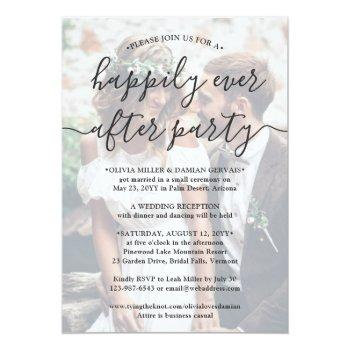 Small Happily Ever After Party 2 Photo Overlay Wedding Front View