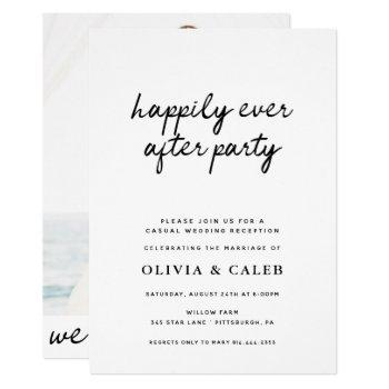 happily ever after party wedding invitation