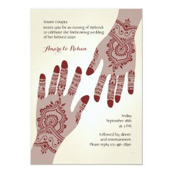 henna hands invitation