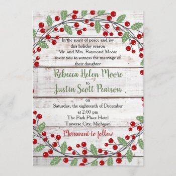holiday charm ii winter/christmas wedding invitation