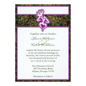 hunting camo purple custom outline color invite