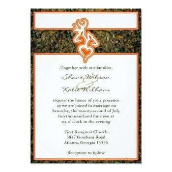 hunting camo wedding invitation
