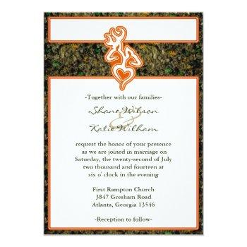 hunting wedding invitation