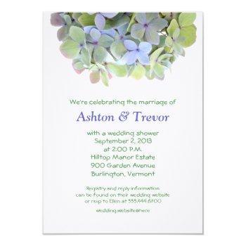 hydrangea banner wedding shower invitation