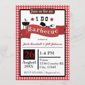 i do barbecue bbq couples wedding invitation