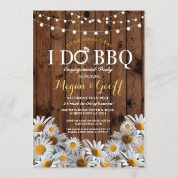 i do bbq daisy floral engagement rustic invite