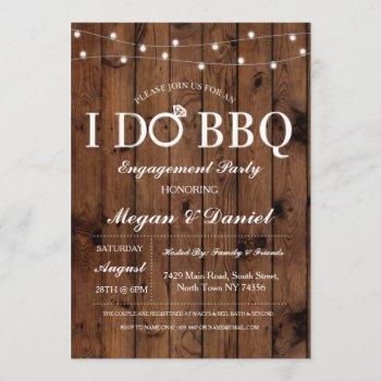 i do bbq engagement couples shower wood invite