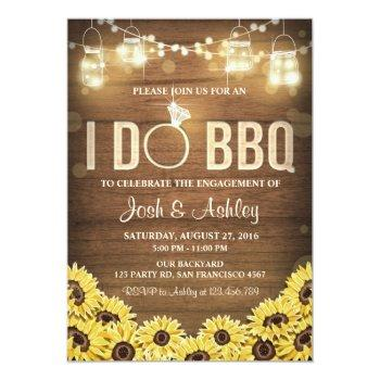 i do bbq invite sunflower couples shower rustic