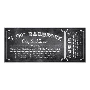 i do bbq ticket invitations | couples shower