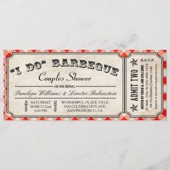 i do bbq ticket invitations | couples shower
