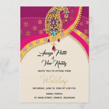 indian hindu wedding invitation