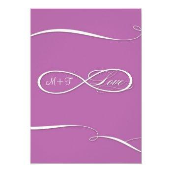 infinity symbol sign infinite love weddings scroll invitation