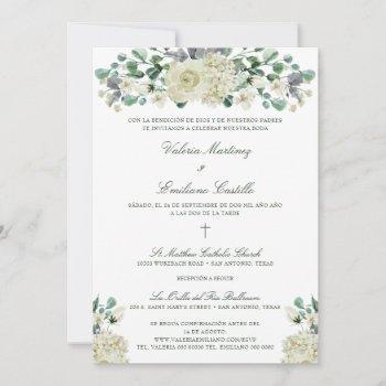 invitación de boda catolica formal wedding invitation