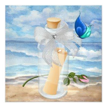 """invitation in a bottle"" - beach invitation - srf"
