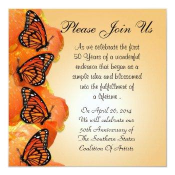 invitation with monarch butterflies for any event