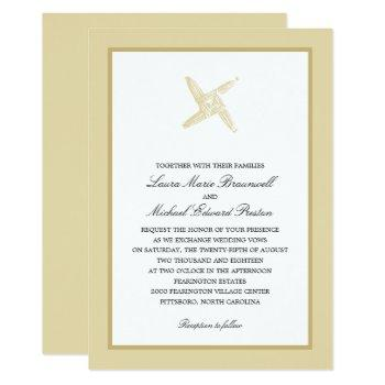 irish st. brigid's cross wedding invitation