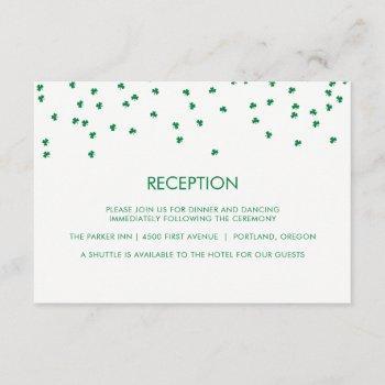 irish theme wedding shamrock confetti | reception invitation