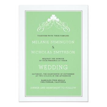Small Irish Wedding Arch Invitation 3991 Front View