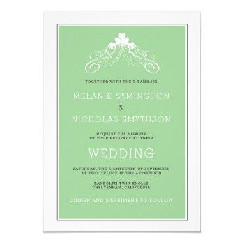 irish wedding arch invitation 3991