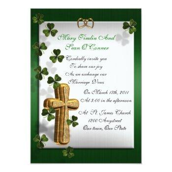 irish wedding invitation