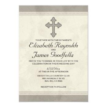 iron cross wedding invitations