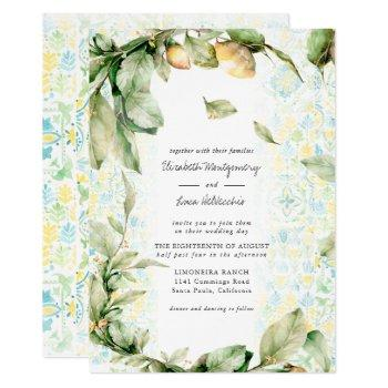 italian lemon grove | boho botanical wedding invitation