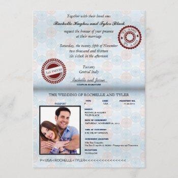 italy passport wedding invitation_custom unlocked invitation