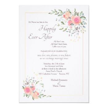it's never too late second wedding invitation