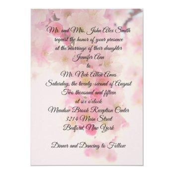japanese cherry blossom wedding invitation