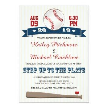 jersey baseball themed wedding invitations