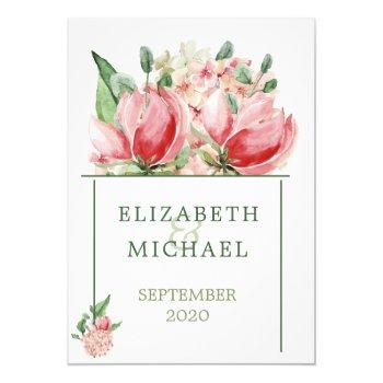 jewish wedding chuppah  elegant modern floral invitation