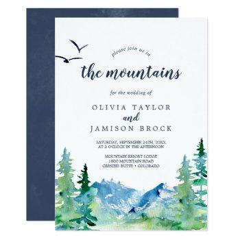 join us in the mountains destination wedding invitation
