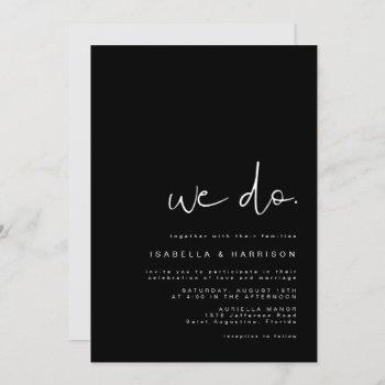 jovi - modern minimalist simple black and white invitation