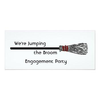 jumping the broom engagement invitation