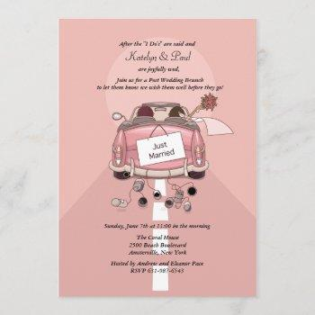 just married 2 post wedding brunch invitation