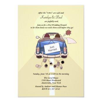 just married post wedding brunch invitation - yell