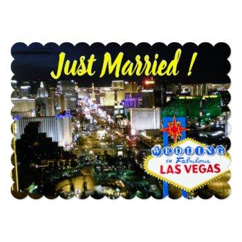 just married wedding announcement las vegas