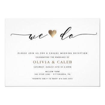 just married wedding reception invitation