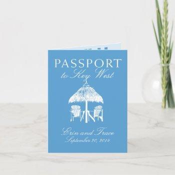 key west florida passport wedding invitation