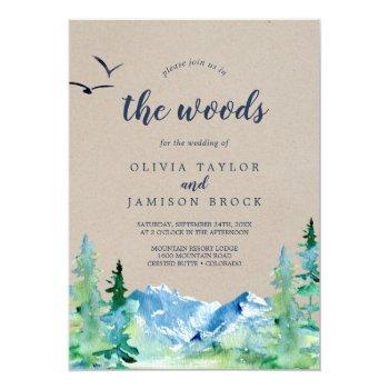 kraft join us in the woods destination wedding invitation