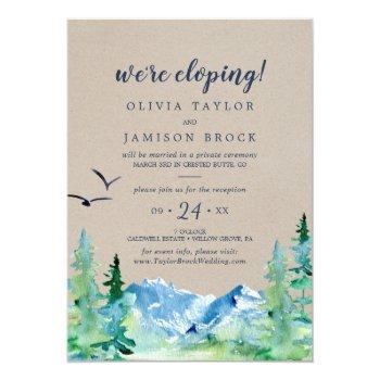 kraft rocky mountain elopement reception invitation
