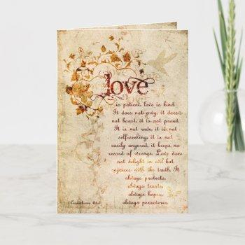 krw love is corinthians wedding invitation ecru